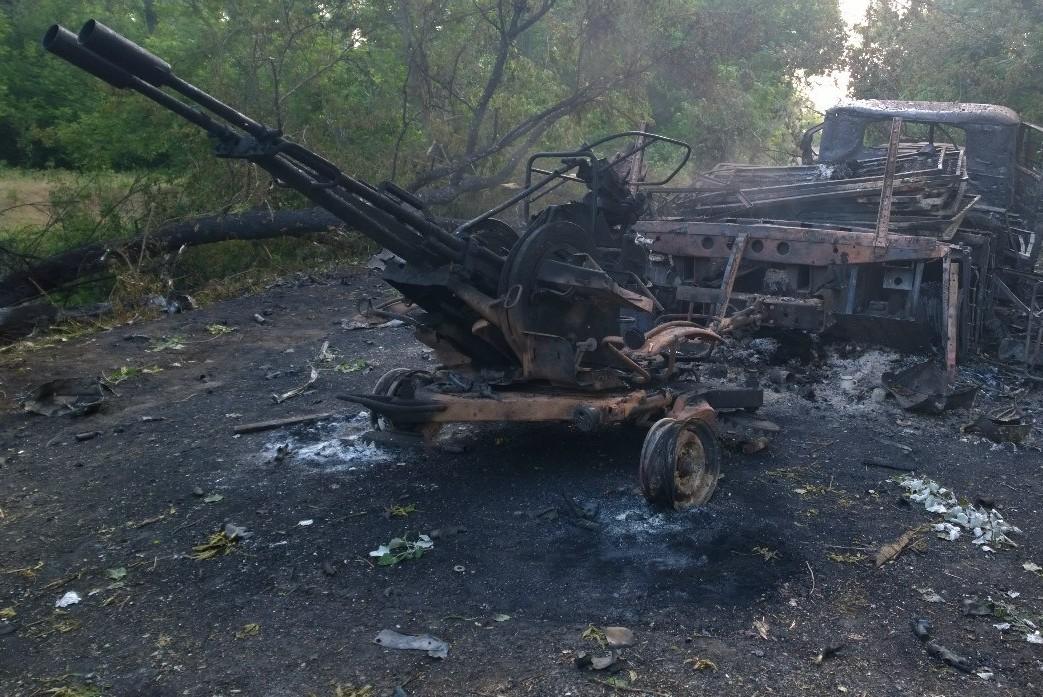 Украинская армия стягивает силы в район населённого пункта Рубежное Луганской области