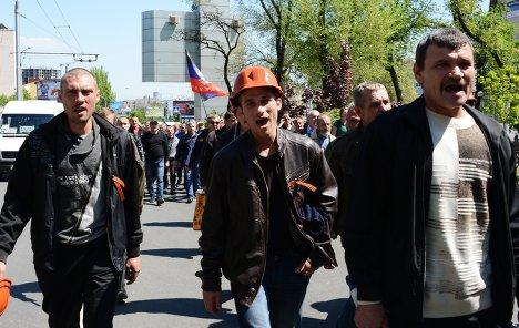 Шахтеры Донецка готовятся взять в руки оружие для борьбы с геноцидом