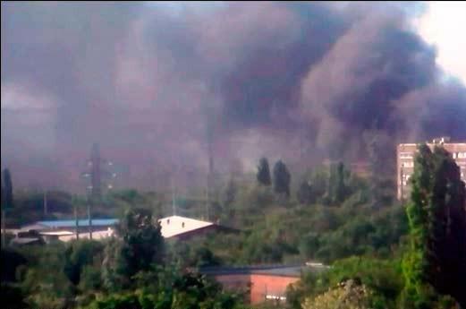 В районе Славянска продолжаются интенсивные столкновения