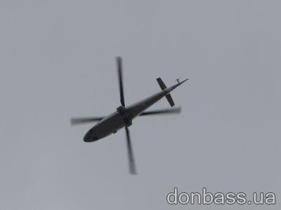 Ополченцы в Донецке попытались сбить вертолет силовиков