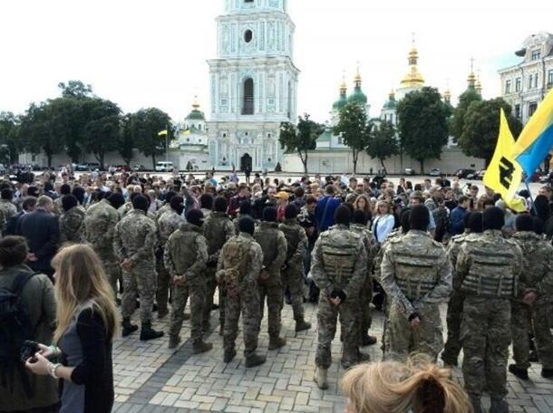 Батальон Азов провожают на войну