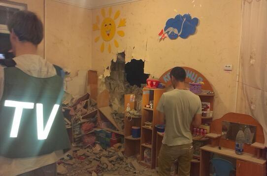 Последствия взрывов в Славянске