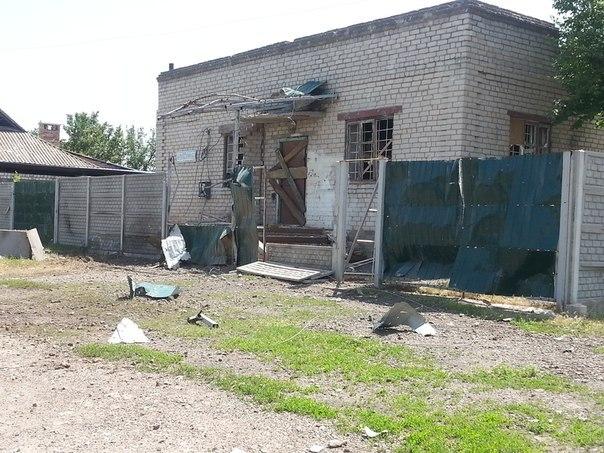 Украинская армия ведет обстрел Черевковки с горы Карачун