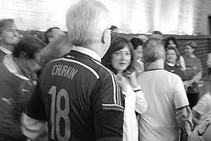 Чуркин появился в ООН в футболке с номером 18 в знак того, что Россия принимает ЧМ по футболу в 2018 году