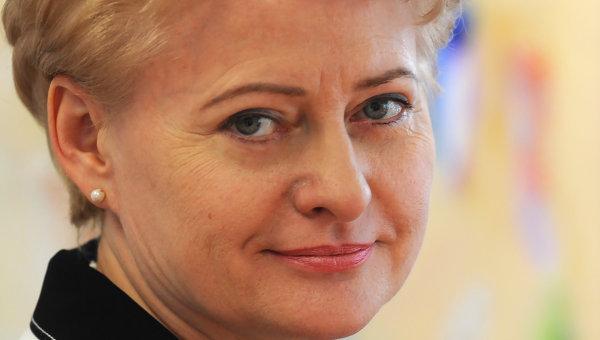 Президент Литвы Даля Грибаускайте советует Порошенко услышать граждан на Востоке Украины