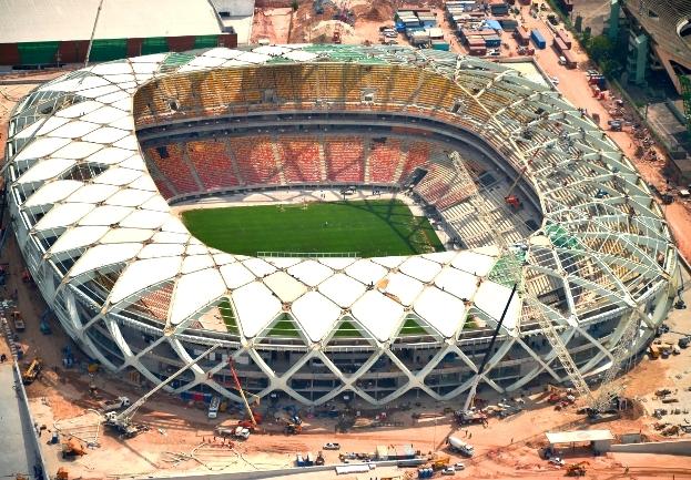 Газон на стадионе в бразильском Манаусе непригоден для матчей ЧМ-2014 по футболу