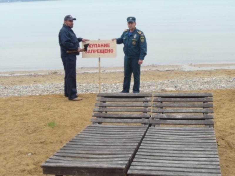 На пляже Якоби в Иркутске запрещено купаться