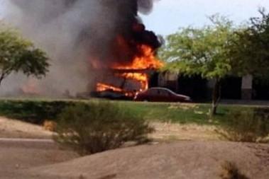 При падении истребителя в Калифорнии никто не пострадал