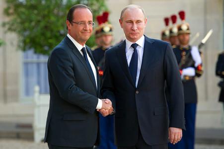 Путин встретился с французским президентом Олландом