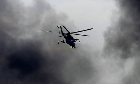 На пригород Славянска сброшены зажигательные бомбы, сообщают ополченцы