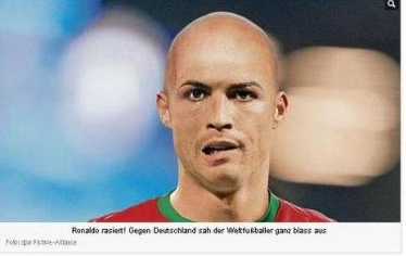 Газета Bild обрила наголо и переименовала Криштиану Роналду