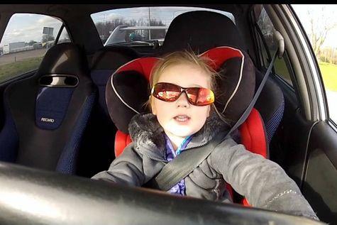 В Свердловской области 12-летняя девочка за рулем