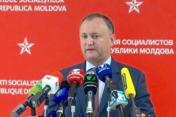Игорь Додон призвал отправить «позорное правительство» Молдавии в отставку за соглашение с ЕС