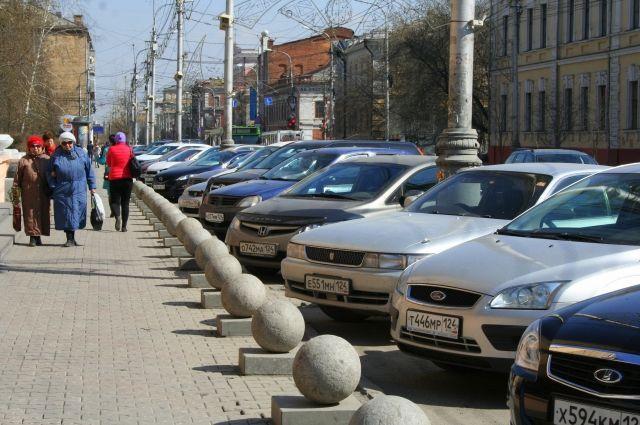 Полторы тысячи парковок в центре Красноярска станут платными