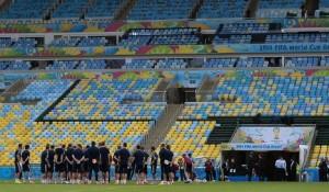 сборная России проводит тренировку с Бельгией