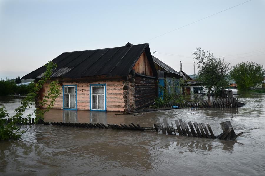 В Бийске Алтайского края вновь подъем воды