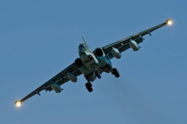 Ополченцы сбили под поселком Ямполь штурмовик Су-25