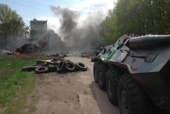 Началась атака украинской армии на Славянск