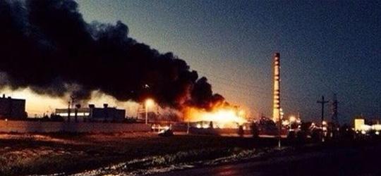 Последствия взрыва на Ачинском НПЗ (видео)
