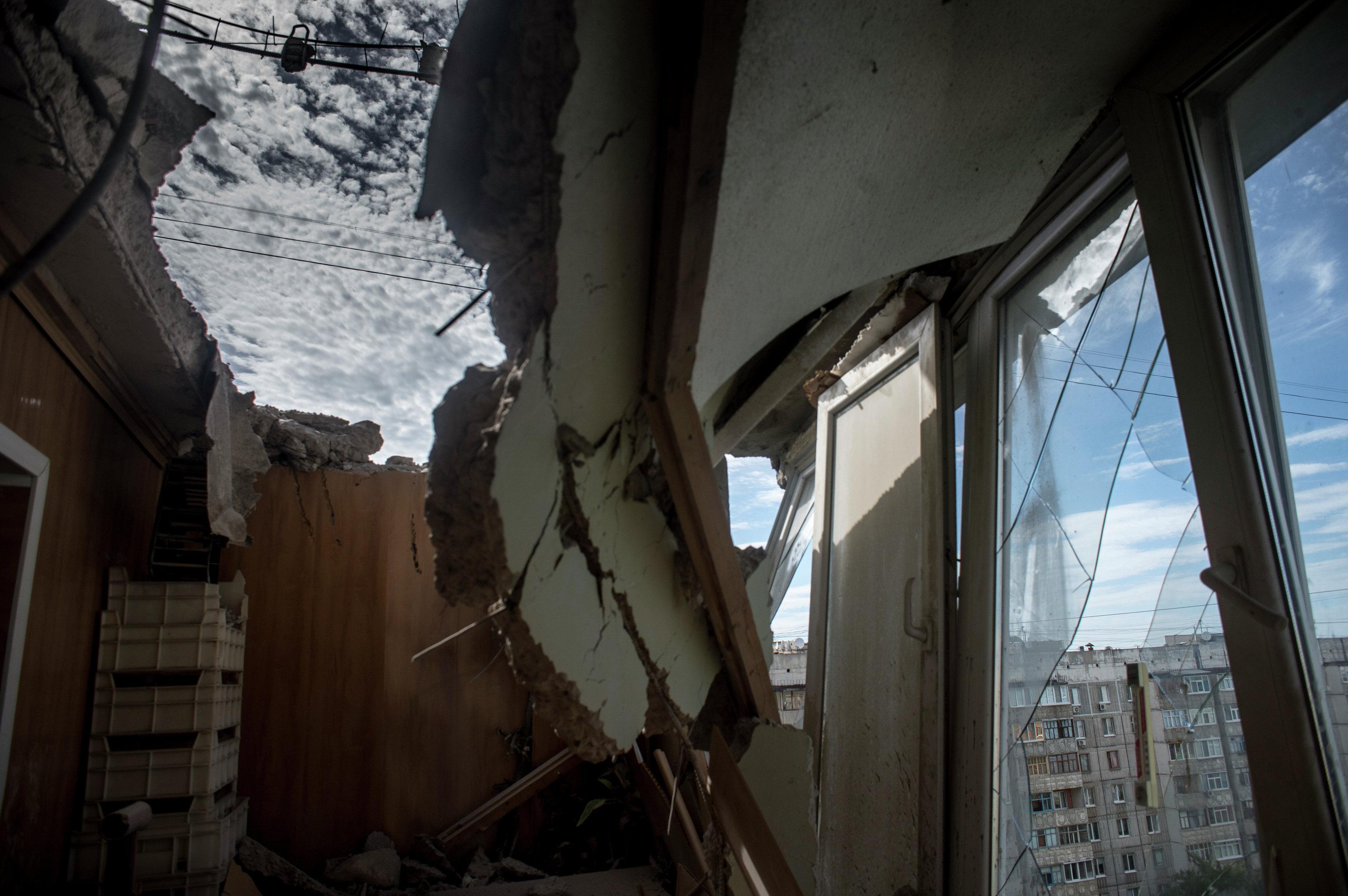 В Луганске один человек погиб и девять ранены