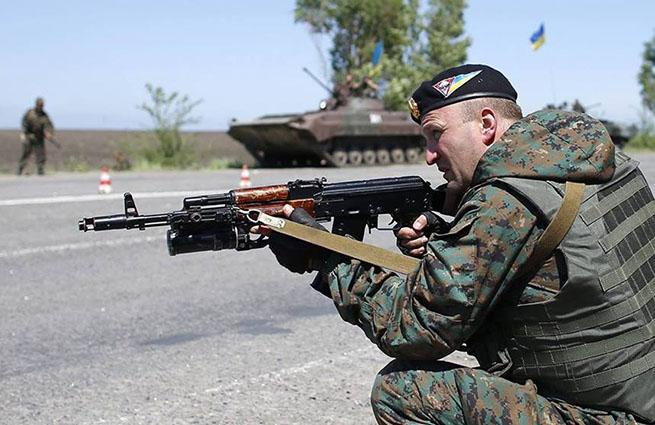 В центре Донецка - бой