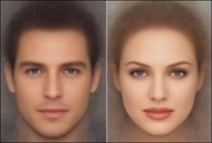 Красивое лицо отличается гармонией черт