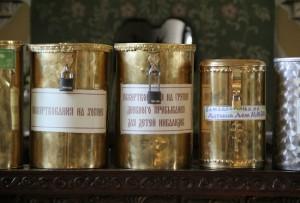 Кружки для пожертвований в храме