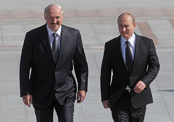 Владимир Путин с кратким визитом побывал в Минске