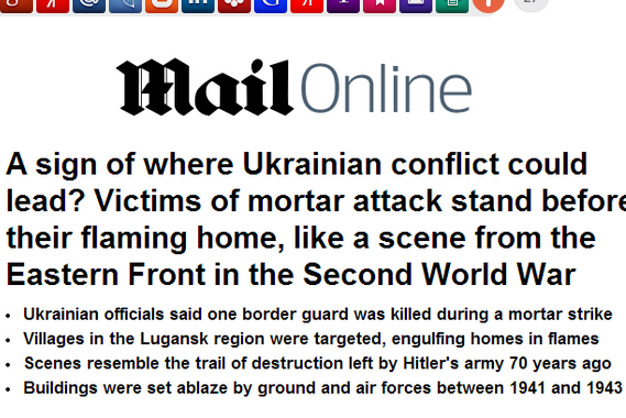 Британские СМИ сравнили тактику украинских карателей со стратегией немцев в 1941 году
