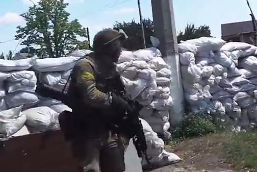 В сети появилось эксклюзивное видео вхождения украинских войск в Славянск