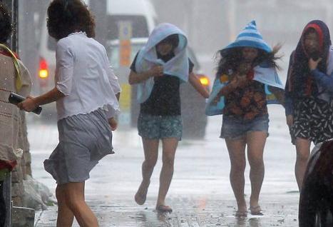 Более 22 тысяч домов в Японии остались без электричества из-за тайфуна