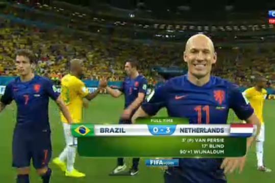 Нидерланды стали бронзовыми призерами ЧМ-2014, обыграв Бразилию
