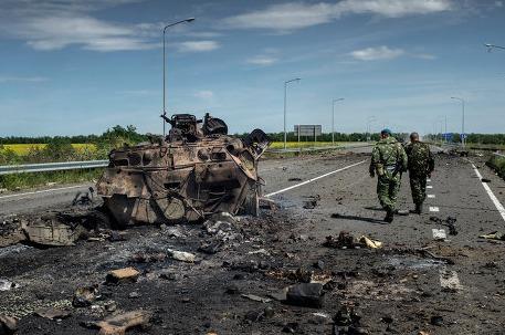 Луганские ополченцы заявили, что нашли фрагменты баллистической ракеты