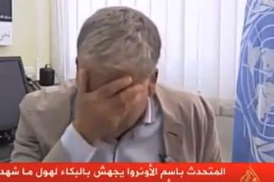 Пресс-секретарь Ближневосточного агентства ООН разрыдался на интервью