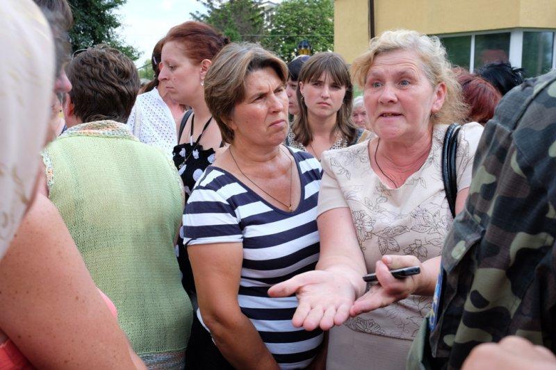 Украинцы протестуют против мобилизации