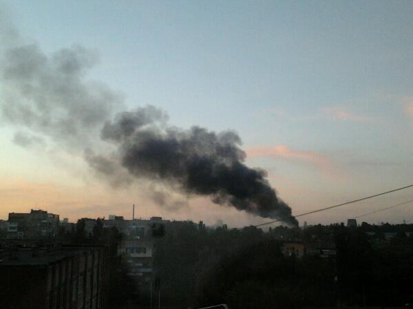 В Донецке ночь прошла неспокойно, стреляла тяжелая артиллерия