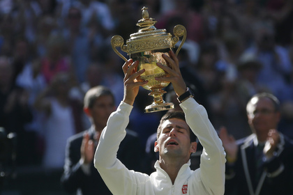 Сербский теннисист Новак Джокович выиграл Уимблдон