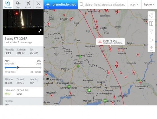 Небо над Воронежем наводнили самолеты, летящие в обход Украины