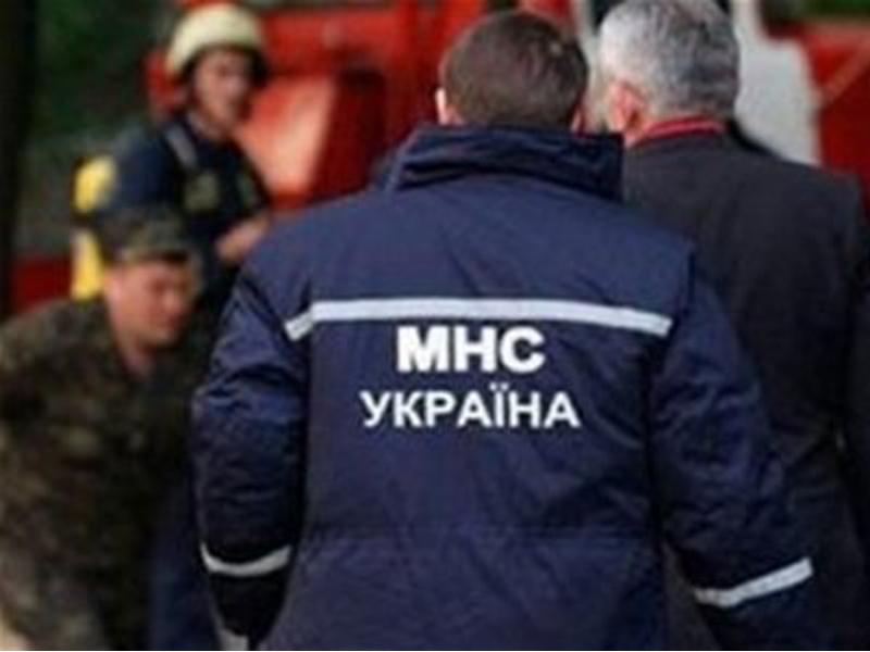 Сотрудники украинского МЧС работают на месте крушения