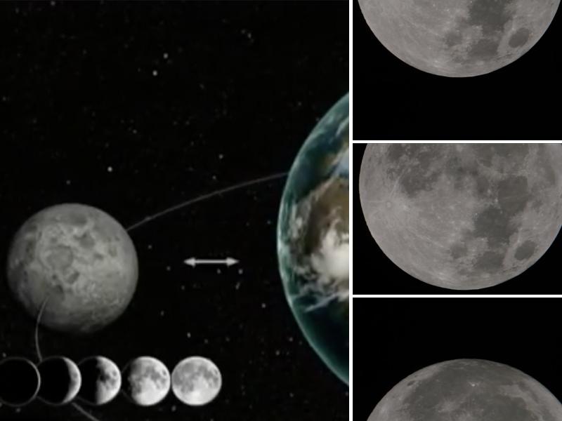 Сегодня ночью жители Земли увидят суперлуние