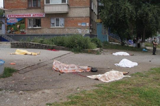В Луганске за сутки погибли 16 мирных жителей