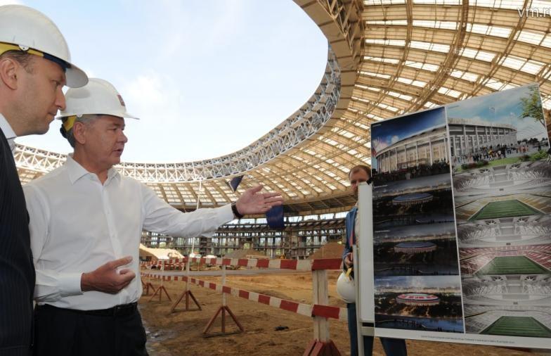 Собянин рассказал о ходе реконструкции «Лужников»