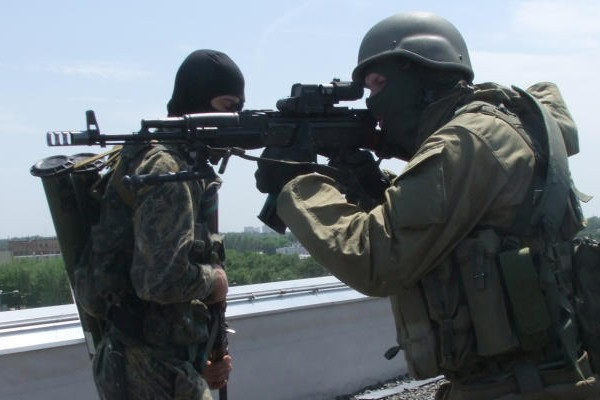 Центр Донецка обстреливают