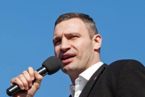 Мэр Киева Кличко запел