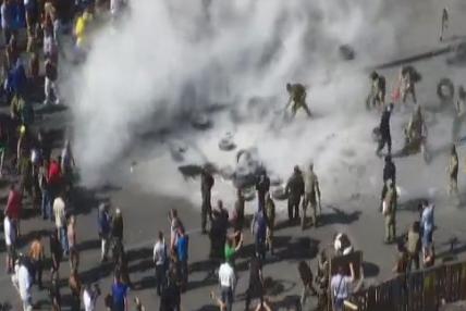 На Майдане в Киеве из палаток изъяли оружие и гранаты