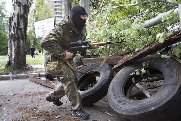 В Донецке идут бои. Есть раненые!