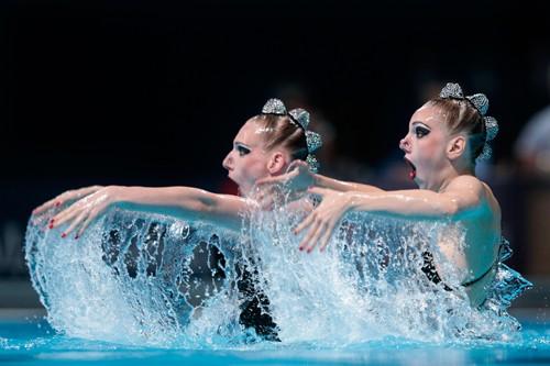 Российский дуэт синхронисток выиграл золото на чемпионате Европы в Берлине