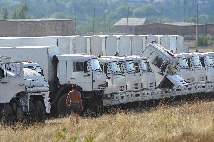 Машины с российской гуманитарной помощью пересекли украинскую границу