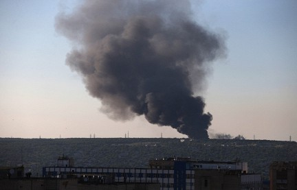 На Луганск были сброшены 4 авиабомбы