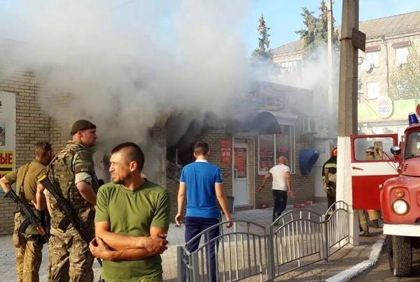 В центре захваченного украинским батальоном Славянска прогремел взрыв